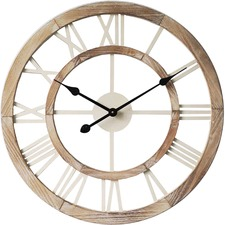 60cm Hamptons Floating Wall Clock