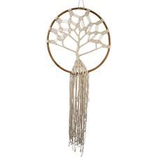 Macramé Tree of Life Bamboo Wall Hanging