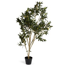 120cm Faux Potted Olive Tree