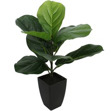 46cm Faux Potted Baby Fiddle Leaf Fig Plant