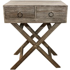 Lorette Double Drawer Side Table
