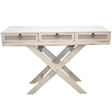 Lorette French Chic 3 Drawer Console Table