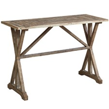 French Country Fir Wood Console Table