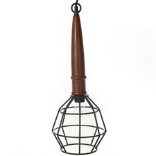 Industrial Metal Cage Pendant Light