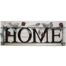 Metal & Wood Home Wall Sign