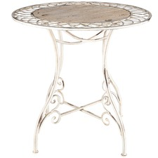 Distressed Martinique Iron Table