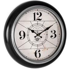 42cm Black Framed Vintage Port Wall Clock