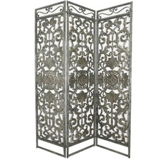 3 Division Ornate Metal Screen