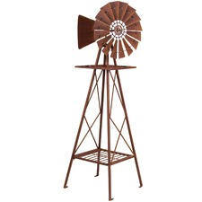 Rust Windmill Decor