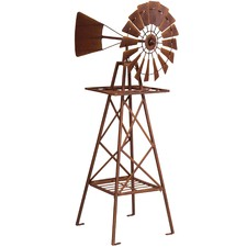 Large Windmill Decorative Accent
