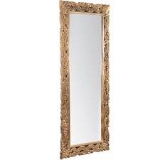 Hand Carved Wooden Wall Mirror