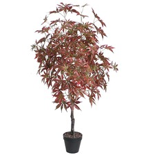 Potted Artificial Faux Maple Tree