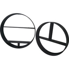 Round Elemental Floating Wall Shelves (Set of 2)