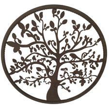 Circular Tree of Life Metal Wall Decor