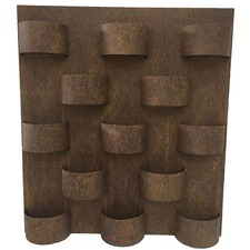 Rust 13 Slot Wall Planter