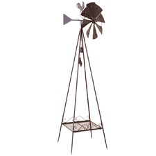 Weather Vane with Windmill & Bell