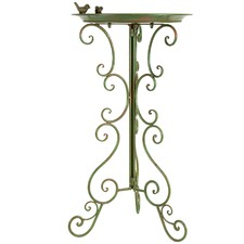 Tall Bird Bath on Ornate Stand