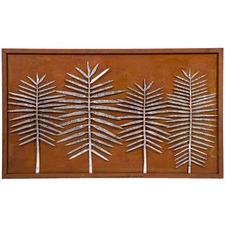 Rust Galvanised Laser Cut Leaves Wall Decor