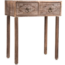 2 Drawer Lorette Wood Side Table