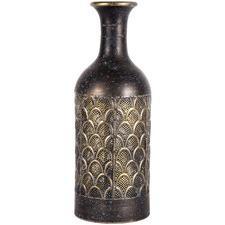 Tall Arid Metal Elemental Vase