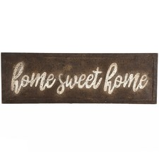 Vintage Home Sweet Home Metal Wall Sign