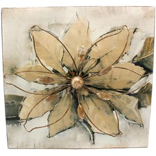 Contemporary Metal Flower Hanging Wall Art