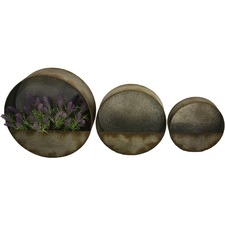 3 Piece Round Elemental Wall Planter Set