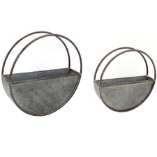 2 Piece Nesting Floating Elemental Wall Planter Set (Set of 2)