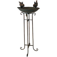 Bronze Iron Bird Bath