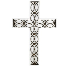 Whitewash Artisan Wood & Metal Cross Wall Decor (Set of 2)