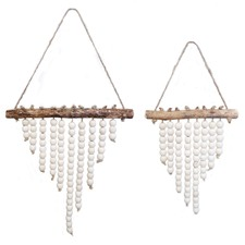 Nested Aged Wood Wall Hangings (Set of 2)