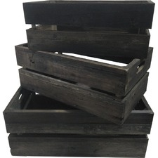 3 Piece Aged Crate Set