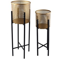 2 Piece Nested Luxe Stilted Beehive Planter Set