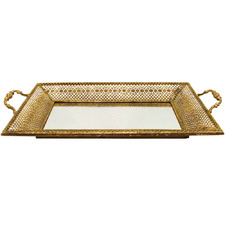 Lustre Hive Metal Tray with Handles