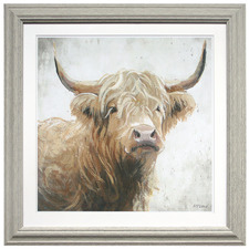 Harvey The Highland Cow Framed Wall Art