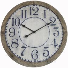 63cm Hamptons Timber Framed Wall Clock