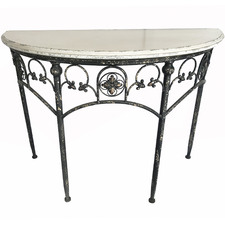 White Chateau Metal Console Table