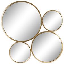 Gold Aura 4 Disc Wall Mirror