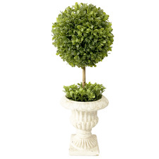 French Potted Faux Stemmed Topiary Ball