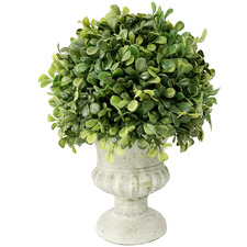 28cm French Potted Faux Topiary Ball