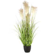 Potted Faux Pampas Grass Plant