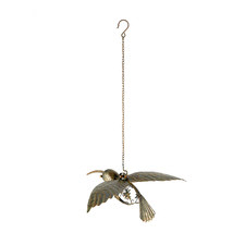 Hanging Humming Bird Outdoor Sculpture