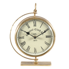 Antique Gold Arthur Colonial Table Clock