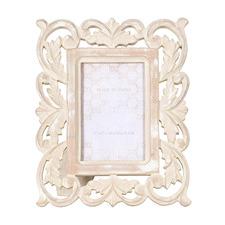 "Whitewash Scroll 4 x 6"" Photo Frame (Set of 2)"