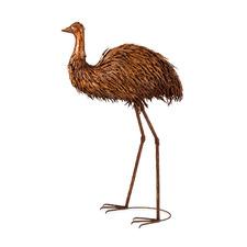 XL Dad Emu Metal Outdoor Decor