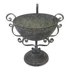 Large Baroque Metal Planter
