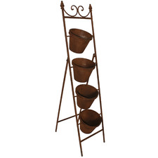Rust 4 Step Ladder Metal Planter