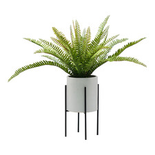 56cm Potted Faux Fern in Plant Stand