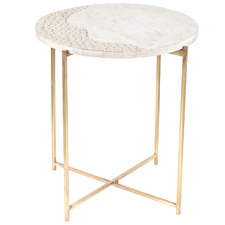 White Cerchio Occasional Side Table