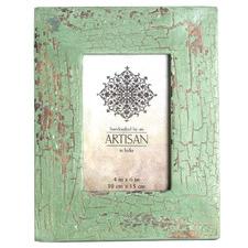 "Green Artisan 4 x 6"" Wooden Photo Frame (Set of 2)"